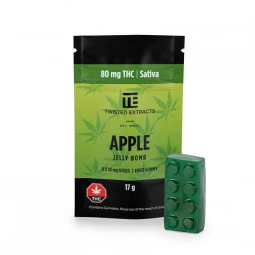 Twisted-extracts-apple-ganjawest-Twisted Extracts - THC Apple Jelly Bombs
