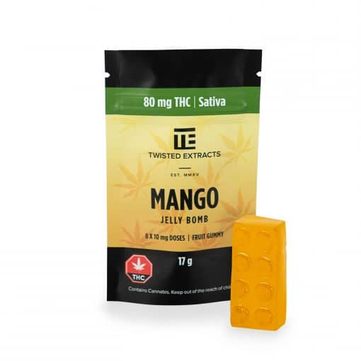Twisted-extracts-mango-ganjawest-Twisted Extracts - THC Mango Jelly Bombs