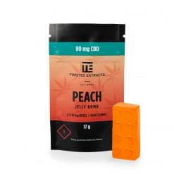 Twisted-extracts-peach-ganjawest-Twisted Extracts - CBD Peach Jelly Bombs