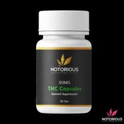 Buy Notorious THC Pure Oil Capsules from Ganja West