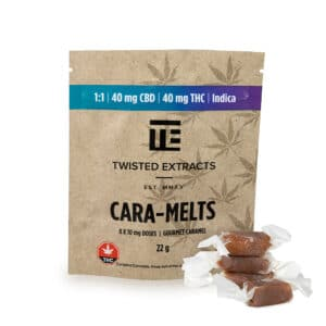 twisted extracts caramelts indica 1 to 1