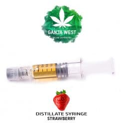 Buy Strawberry THC Indica Distillate Syringes Online